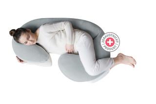 Těhotenský polštář Motherhood Premium - šedý